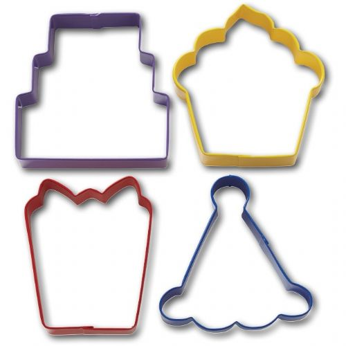 4 Pc. Party Cookie Cutter Set